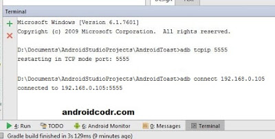 connect mobile to android studio via wifi