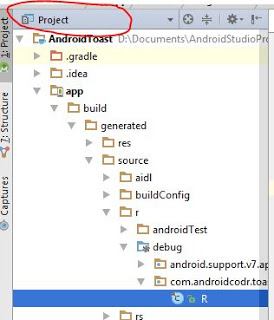 Android toast and button Example