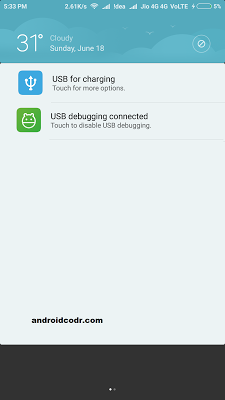 developer options enable usb debugging