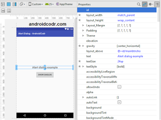 android alert dialog example with code