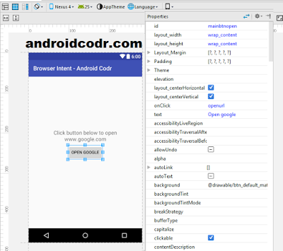 Android Browser Intent