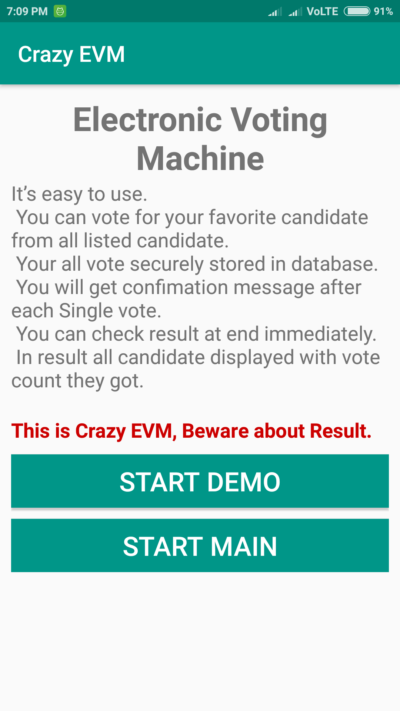 Crazy EVM Electronic Voting Machine